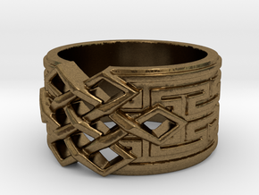 Endless Knot Ring (Multiple Sizes) in Natural Bronze