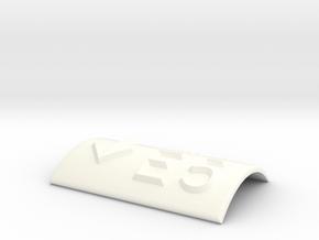 E5 mit Pfeil nach unten in White Processed Versatile Plastic