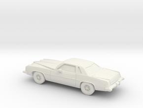 1/87 1973-75 Pontiac Grand Prix in White Natural Versatile Plastic
