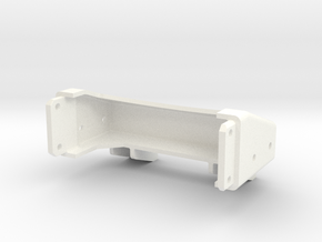 Tamiya Semi Truck Tapered Frame End - Type B in White Strong & Flexible Polished
