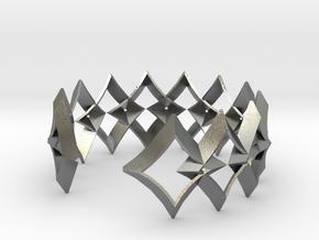 bracelet 01 open silver in Natural Silver
