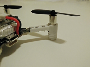 Crazyflie 2.0 spring motor mount (4x) in White Natural Versatile Plastic