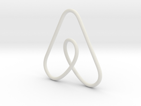 Airbnb Keychain in White Natural Versatile Plastic