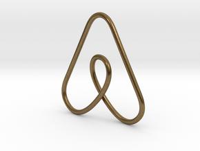Airbnb Keychain in Natural Bronze