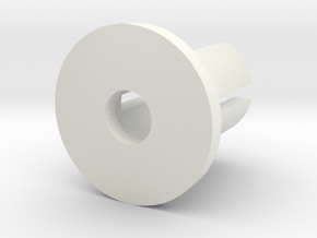 Hop Up Bushing in White Natural Versatile Plastic