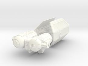 144 Tie Bomber in White Processed Versatile Plastic