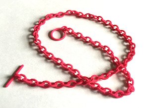 Basic Oval Chain - 34in in Pink Processed Versatile Plastic
