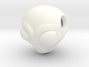 Reversible Alien head pendant in White Processed Versatile Plastic