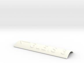 GLEIS 3 mit Pfeil nach links in White Processed Versatile Plastic