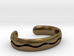 Bracelet03-wave in Natural Bronze
