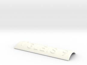 GLEIS 9 mit Pfeil nach oben in White Processed Versatile Plastic