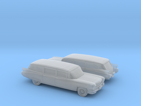 1/160 2X 1959 Cadillac Station Wagon in Smooth Fine Detail Plastic