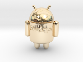 Droid-developer in 14k Gold Plated Brass
