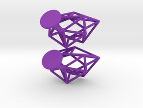 Cufflinks Chaos in Purple Processed Versatile Plastic