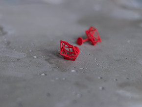 Cufflinks Chaos in Red Processed Versatile Plastic