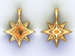 Southern cross Stars in Natural Brass