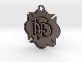Dallas Fire Rescue in Polished Bronzed Silver Steel