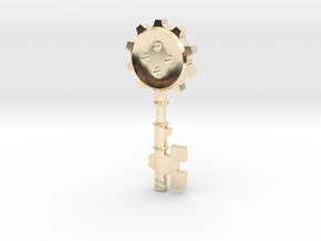 Key Of Clock Tower ver.1 in 14k Gold Plated Brass