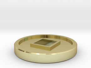 7mm Coin (Type2), x1 in 18k Gold Plated Brass
