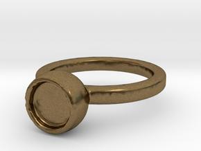 Art Ring Print for memory  in Natural Bronze