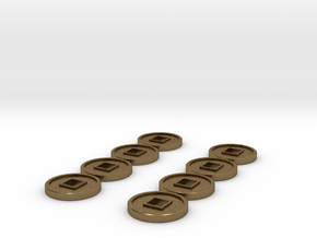 7mm Coins (Type2), x8 in Natural Bronze