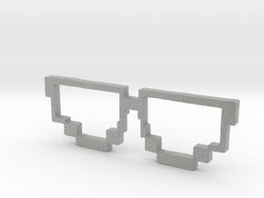 Pixel Sunglasses in Metallic Plastic