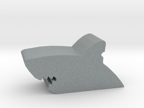 Game Piece, Shark Bite in Polished Metallic Plastic