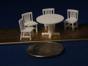 S Scale Round Tables x5 and Chairs x20 in White Natural Versatile Plastic