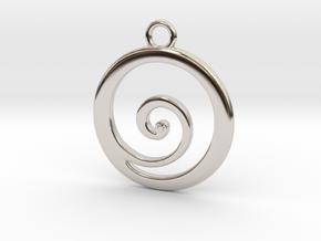 Koru Pendant in Platinum