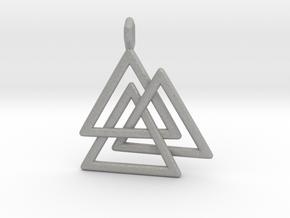 Vikings Valknut Pendant in Aluminum