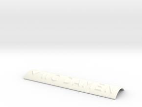 WC DAMEN mit Pfeil nach unten in White Processed Versatile Plastic