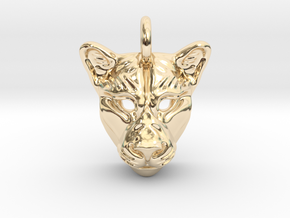 Lioness Pendant in 14k Gold Plated Brass