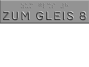 ZUM GLEIS 8 in Polished Metallic Plastic