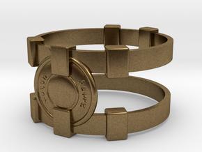 Brainy Bracer ver.1 in Natural Bronze