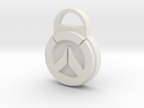 Overwatch Logo Keychain in White Strong & Flexible