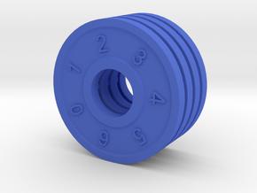 Shield Dial in Blue Processed Versatile Plastic