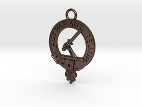 Clan Gunn key fob in Polished Bronze Steel