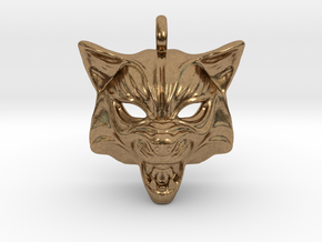 Fox type 2 Pendant in Natural Brass