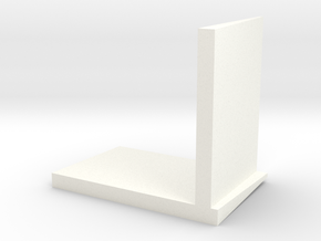 JRRCD 1/64th Silage Bunker Wall 16ft Right Corner in White Processed Versatile Plastic