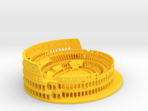 Roman Colosseum high details in Yellow Processed Versatile Plastic