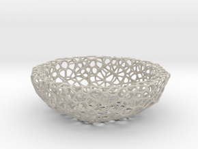 Bowl (19 cm) - Voronoi-Style #2 in Natural Sandstone