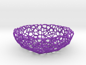 Key shell / bowl (11,5 cm) - Voronoi-Style #1  in Purple Strong & Flexible Polished