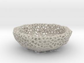 Bowl (19 cm) - Voronoi-Style #6 in Natural Sandstone