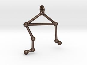 Constellation Pendant - Libra in Polished Bronze Steel