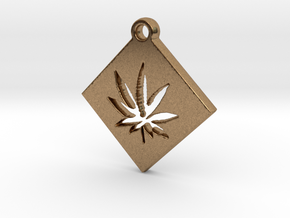 Creator Pendant in Natural Brass