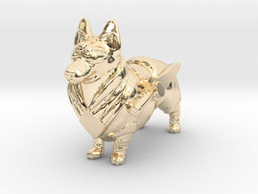 Green Ranger Corgi in 14K Yellow Gold