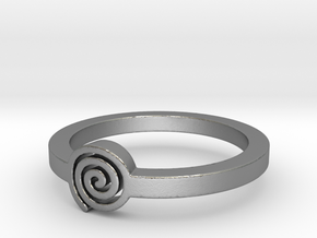 Spiral Ring Size 11 in Raw Silver