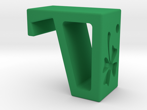 Flexible Phone Stand Keychain - Shamrock in Green Processed Versatile Plastic