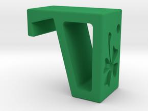Flexible Phone Stand Keychain - Shamrock in Green Processed Versatile Plastic