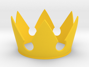 Kingdom Hearts inspired Sora's Crown Cosplay in Yellow Strong & Flexible Polished